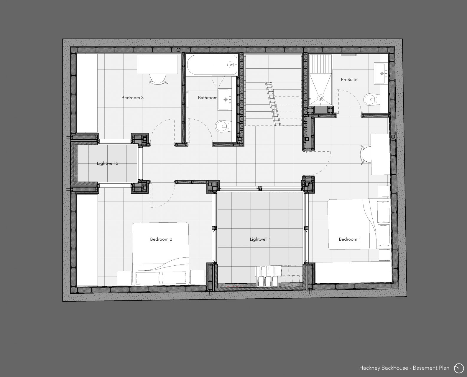 Hackney Backhouse – Basement Plan