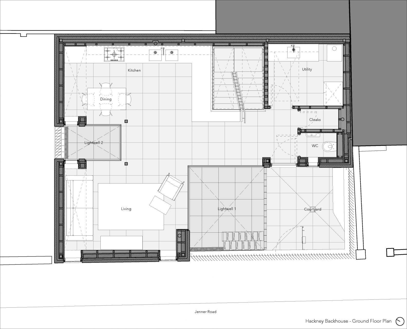 Hackney Backhouse – Ground Floor Plan